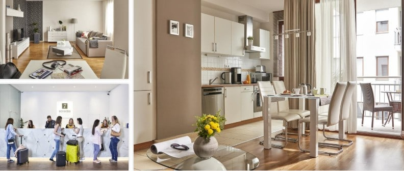 Flotte leiligheter i Budapest hos 7Seasons Apartments