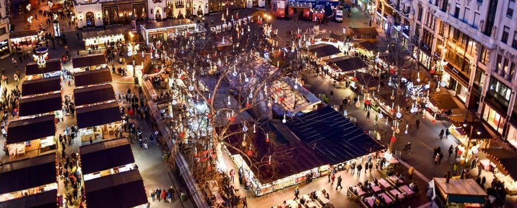 Julemarked i Budapest i 2018