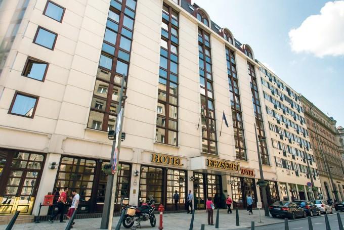Hotel Erzsebet - et relativt stort tre stjerners hotell i sentrum av Budapest
