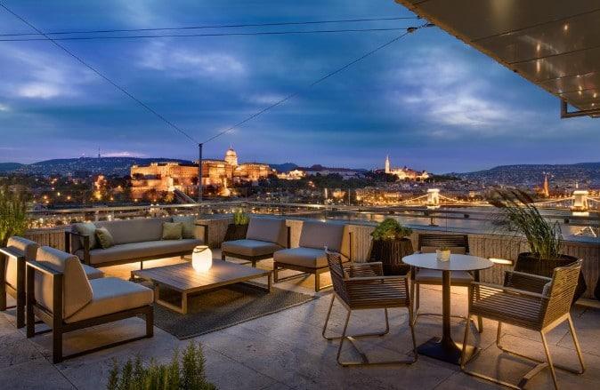 Fantastisk utsikt fra Marriott i Budapest