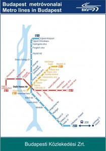 Budapest metrokart