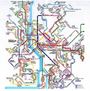 Budapest kollektivtransport kart