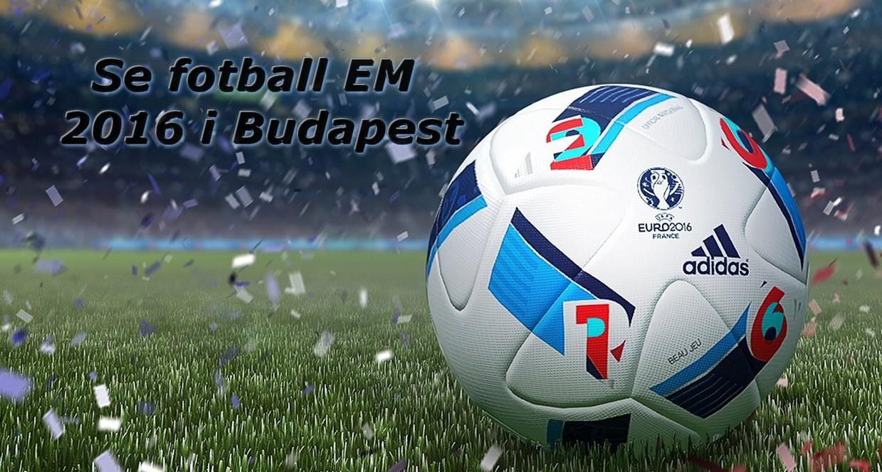 Se fotball EM innendors og utendors i Budapest