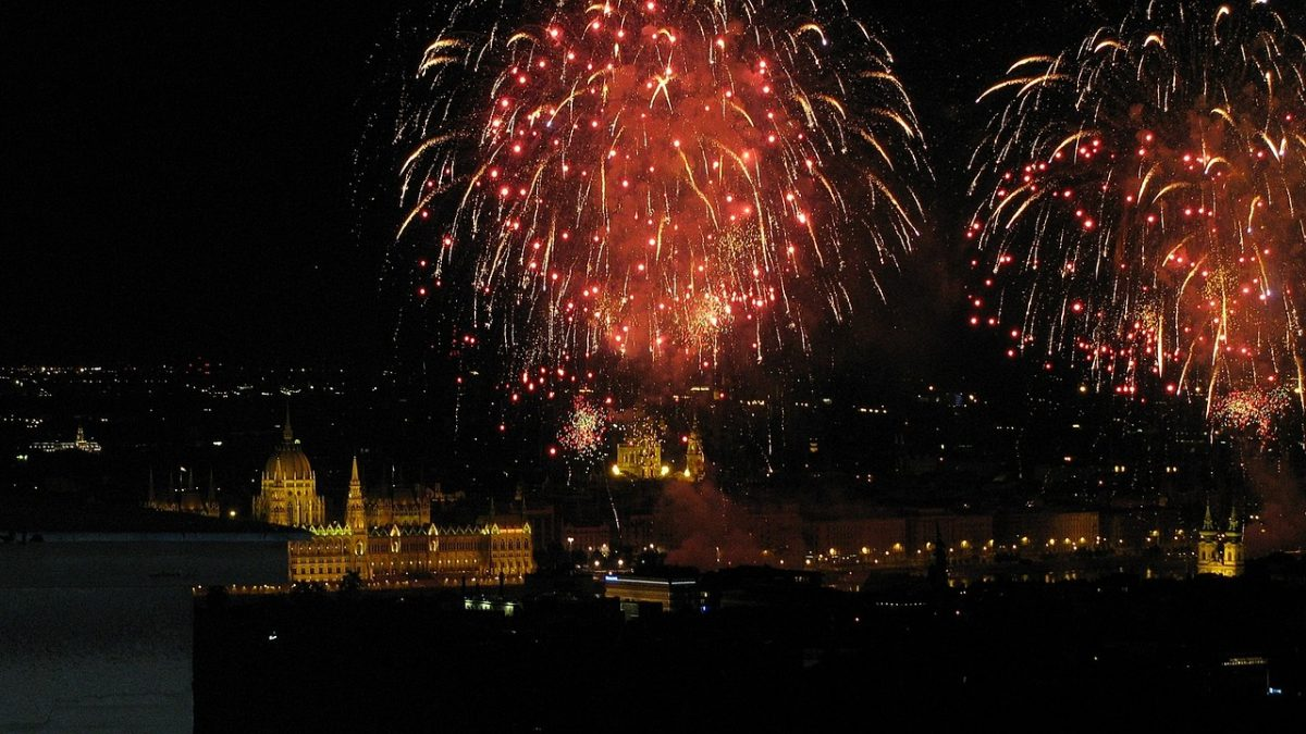 Fyrverkeri i Budapest den 20 august